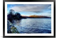 Edge of the Loch , Framed Mounted Print