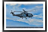 Royal Navy Helicopter, Framed Mounted Print