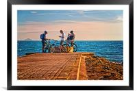 Beach Pit Stop , Framed Mounted Print