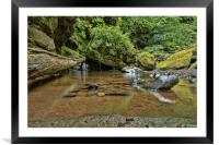 Rock Pool Reflections, Framed Mounted Print