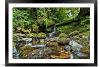 Small Falls in Largs  , Framed Mounted Print