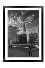 The Shard from the Scoop B&W, Framed Mounted Print