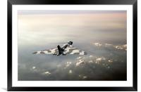 Vulcan over the Channel, Framed Mounted Print