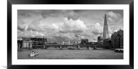 The Shard and Thames view, Framed Mounted Print