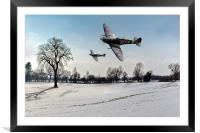Boys will be boys: low-flying Spitfires, Framed Mounted Print