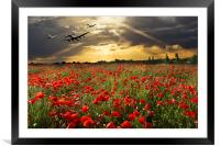 The final sortie: Lancaster Spitfire Hurricane, Framed Mounted Print