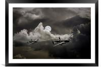 Supermoon Lancasters, Framed Mounted Print