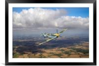 Hispano Buchon G-BWUE, Framed Mounted Print