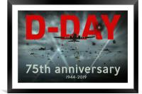 D-Day 75th poster, Framed Mounted Print