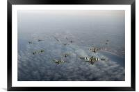 D-Day Stirlings and Horsa gliders, Framed Mounted Print