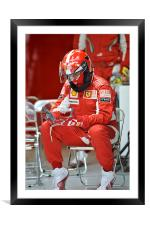 Ferrari Mechanic, Framed Mounted Print