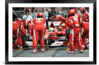 Felipe Massa, Framed Mounted Print