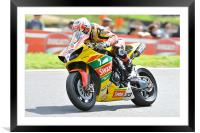 Tommy Hill at Cadwell Park 2011, Framed Mounted Print