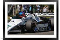 Williams FW08/3 at Brands Hatch 2010, Framed Mounted Print