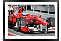Fernando leaving the pits, Framed Mounted Print