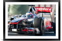 Jenson Button 2011 - Catalunya, Framed Mounted Print