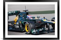 Vitaly Petrov - Caterham 2012, Framed Mounted Print