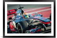 Lewis hamilton Catalunya - 2012, Framed Mounted Print