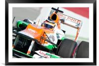 Nico Hulkenberg 2012 Force India, Framed Mounted Print