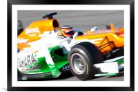 Nico Hulkenberg Force India 2012, Framed Mounted Print