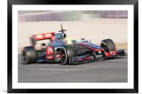 Lewis Hamilton 2012 Spain, Framed Mounted Print