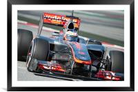 Jenson Button 2012 Spain, Framed Mounted Print