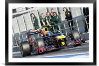 Mark Webber 2012 Spain, Framed Mounted Print