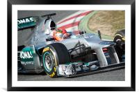 Michael Schumacher 2012 spain, Framed Mounted Print