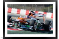 Nico Hulkenberg at Catalunya 2012, Framed Mounted Print