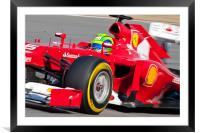 Felipe Massa 2012 Spain, Framed Mounted Print