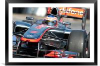 Jenson Button 2012 - Spain - Catalunya, Framed Mounted Print