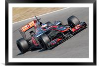 Jenson Button 2012 - Spain, Framed Mounted Print
