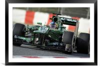 Charles Pic - Caterham 2013, Framed Mounted Print