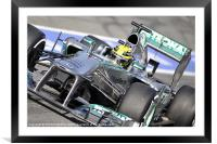 Lewis Hamilton - 2013 - AMG Mercedes, Framed Mounted Print