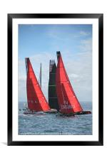 FIRST AT THE MARK, Framed Mounted Print