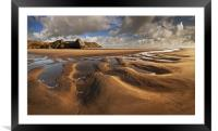 Three Cliffs Sand Pattern, Framed Mounted Print