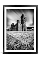 The Pierhead Building at Cardiff Bay, Framed Mounted Print
