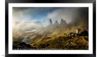 The Old Man of Storr, Isle of Skye, Framed Mounted Print