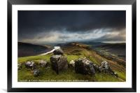 View to Tor y Foel, and Talybont Reservoir Brecon , Framed Mounted Print