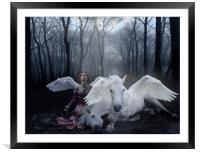 Saved by an Angel, Framed Mounted Print