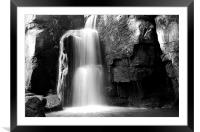 Lumsdale Waterfall, Derbyshire, Framed Mounted Print