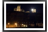 Whitby Abbey at Night, Framed Mounted Print