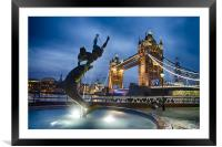 Dance at the Tower, Framed Mounted Print