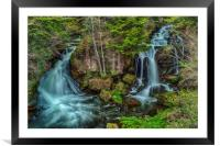 Dragon Falls, Framed Mounted Print