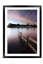 Knapps Loch Sunsrise, Framed Mounted Print