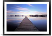 Loch Lomond Jetty Reflection, Framed Mounted Print