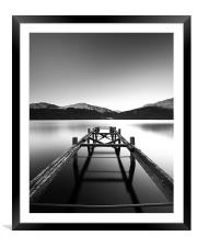 Loch Lomond Jetty, Framed Mounted Print