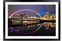 The Glasgow Clyde Arc Bridge, Framed Mounted Print