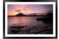 Elgol Colourful Sunset, Framed Mounted Print