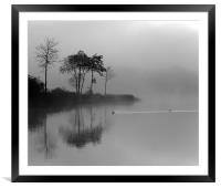 Loch Ard in Mist, Framed Mounted Print